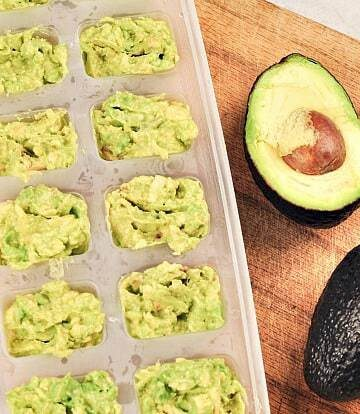 freezing avocados - mashed in ice trays
