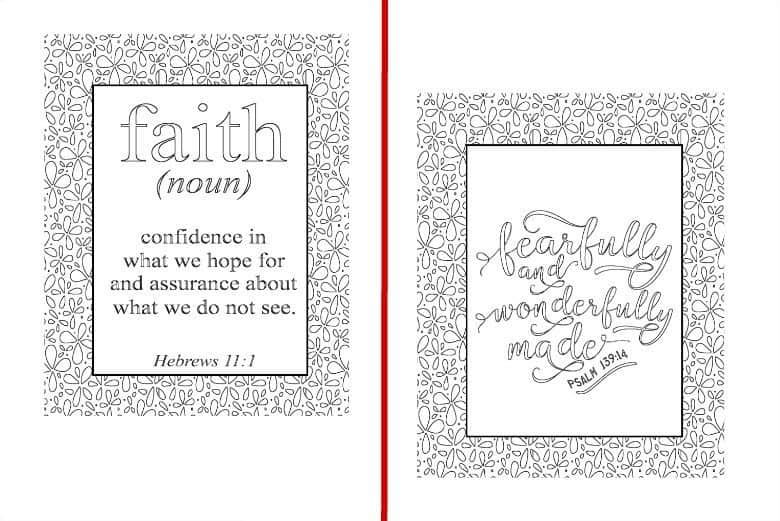 Inspirational Coloring Pages - Set of 5 - Cultured Palate