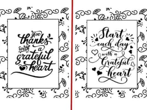 2 of the 5 designs shown from the Encouraging Coloring Pages Set