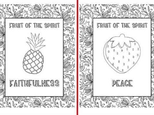 Fruit of the Spirit Coloring Pages - faithfulness and peace shown