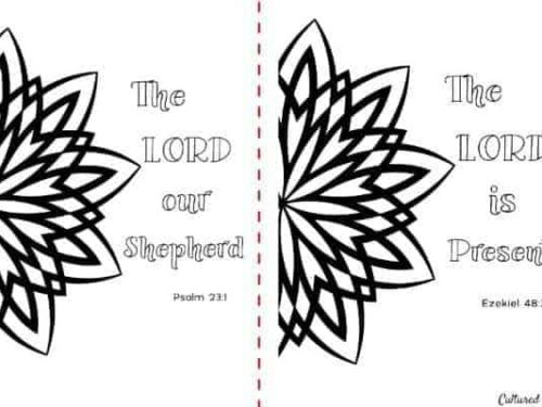 The Lord is… Coloring Pages for Adults