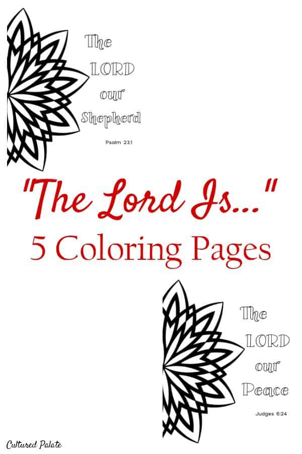 Uniques Coloring Pages for Adults can be difficult to find. Get your set of 5 different faith based designs: https://myculturedpalate.com/coloring-pages-for-adults/ #adultcoloringpages #printablecoloringpages #coloringsheets