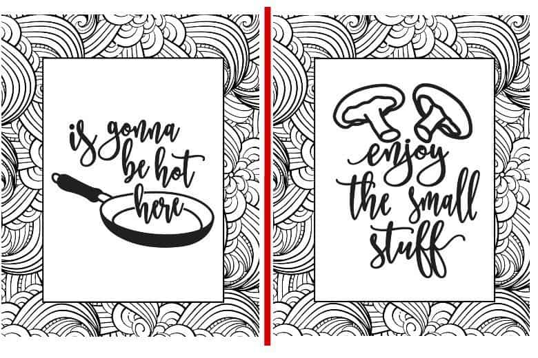 2 printable coloring pages shown from set of 5