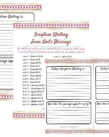 pages shown of Bible Writing - Scripture Writing Verses for June