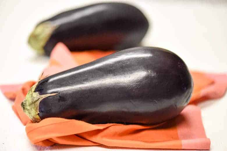close up of eggplant for the Health Benefits of Eggplant