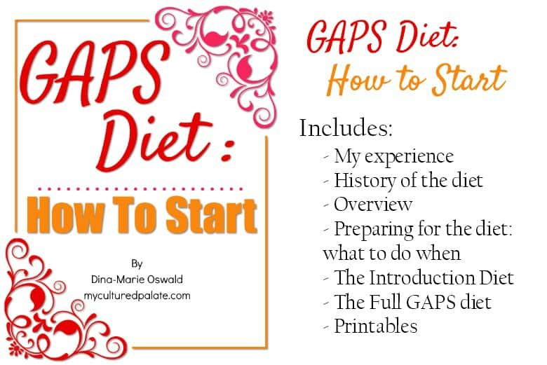 Front cover of the GAPS Diet: How to Start ebook shown