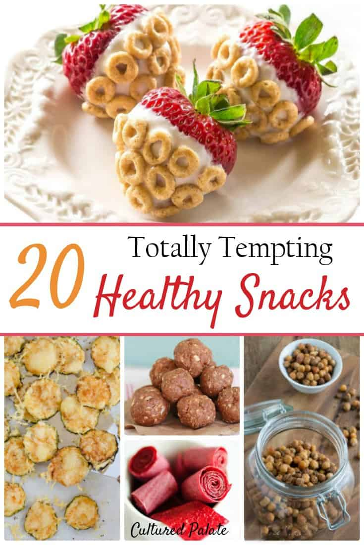 Looking for healthy snack ideas? Find Healthy Snack Recipes in this round-up of 20 easy recipes. Kids snacks and adult snacks - there is something for everyone! myculturedpalate.com #healthysnacks #snackrecipes #recipes