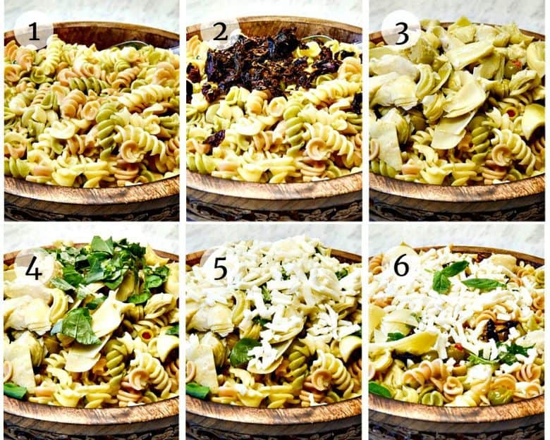 A step by step photo tutorial to making Italian Pasta Salad