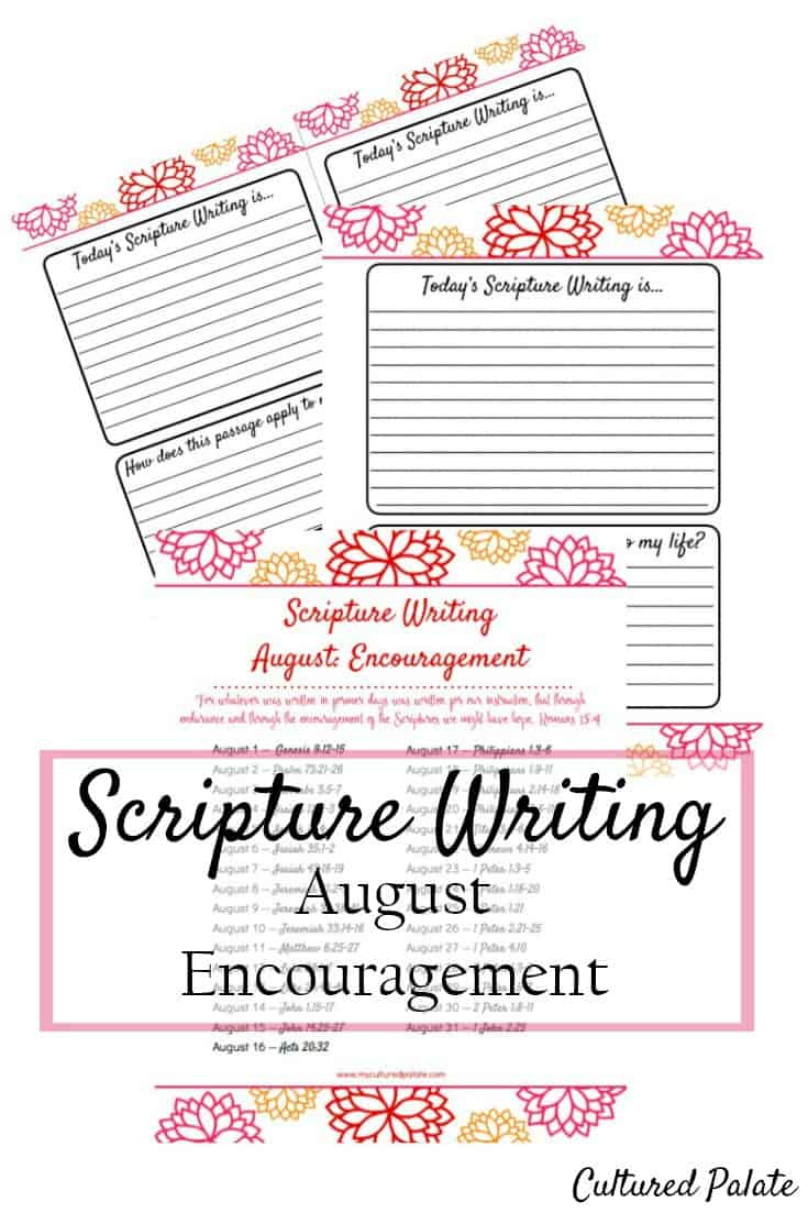 Looking for a Bible study method that doesn't take tons of time? Scripture writing or Writing the Word is just that! myculturedpalate.com #scripturewriting #Biblestudy #writetheword #inspiration