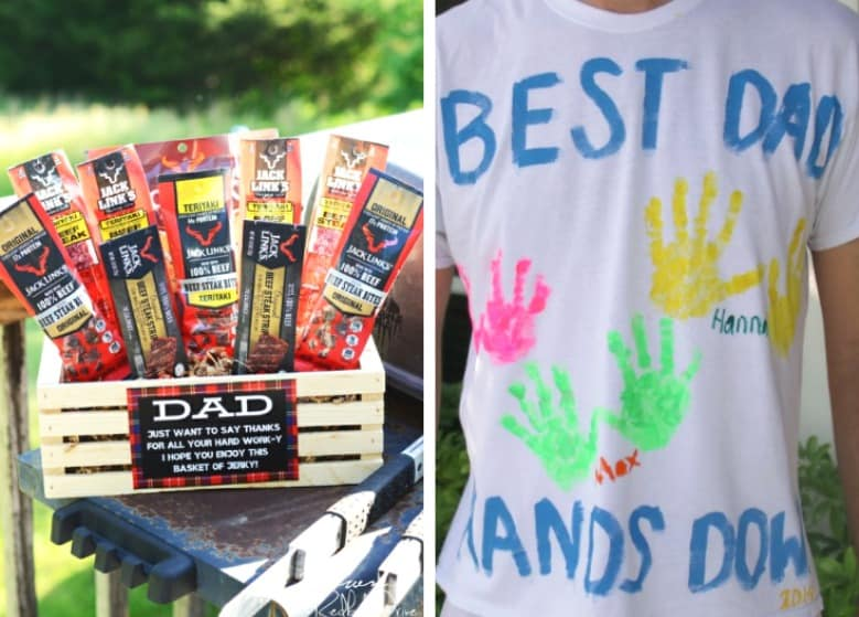 Two ideas for dad from the Father's Day Gifts DIY post shown.