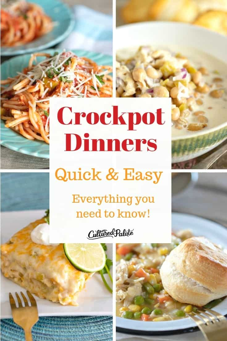 Easy crockpot meals that are perfect for dinner!