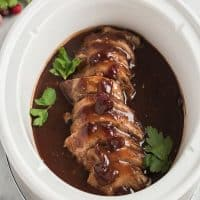 Crock Pot Pork Tenderloin with Cranberry Sauce