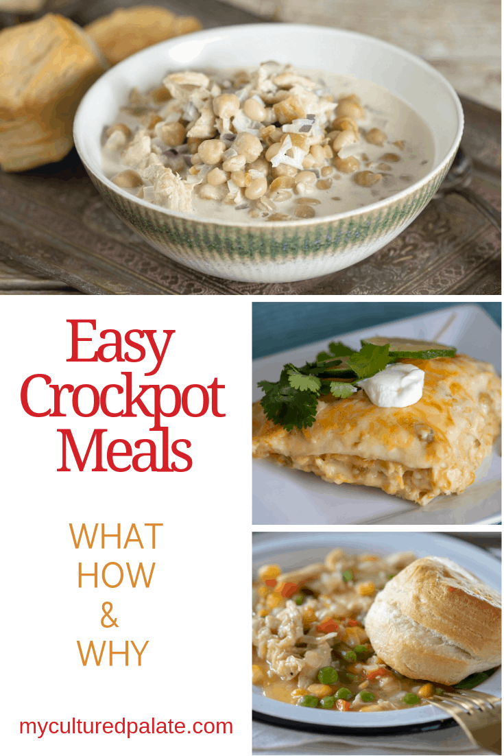 Easy crockpot meals that are perfect for dinner - Collage image with text overlay.