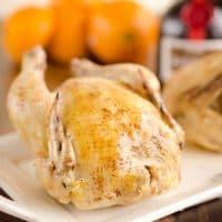 Crock Pot Cornish Hens in Orange Sauce