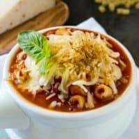 Crockpot Chicken Parmesan Soup