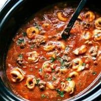 Crockpot Lasagna Tortellini Soup